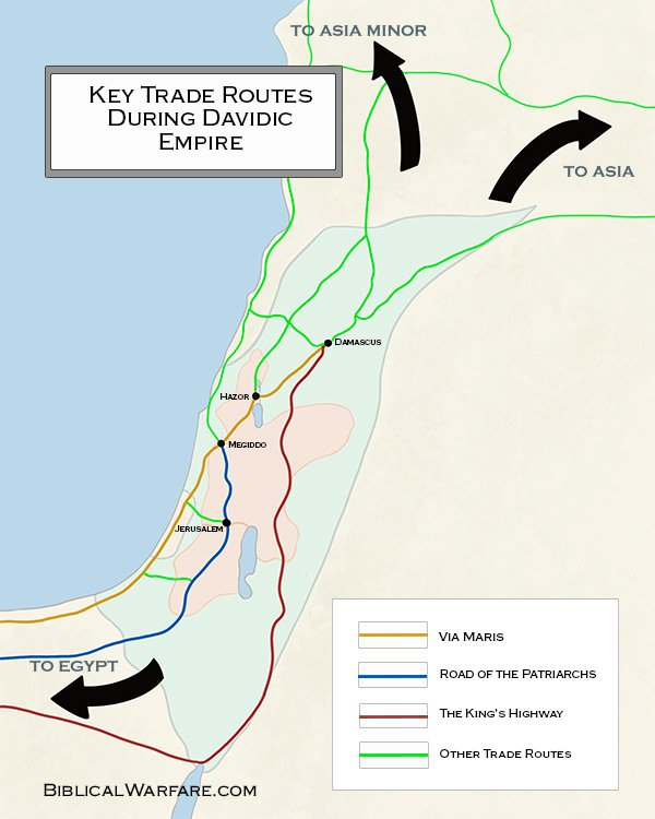 Trade Routes during Davidic Empire Map