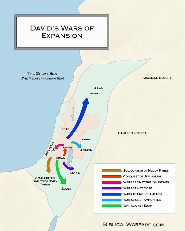 King David's wars of expansion map